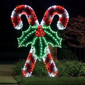 Shop Holiday Lighting Specialists 8 3 Ft Crossed Candy