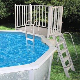 Splash-A-Round 52-In Aluminum Pool Deck Ladder With Hand ...