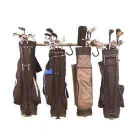 Monkey Bar 9-Piece Silver Steel Golf Bag Rack 4006