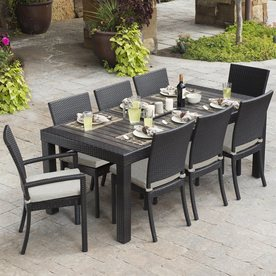 Display Product Reviews For Deco 9 Piece Brown Wood Frame Wicker Patio Dining Set With