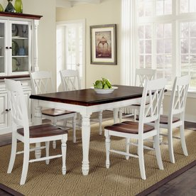 Cottage Kitchen Table White Pedestal Rectangle