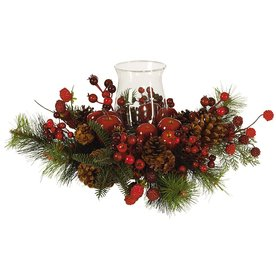 Nearly Natural Tabletop Candle Holder Indoor Christmas Decoration 4654