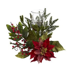 Nearly Natural Tabletop Candle Holder Indoor Christmas Decoration 4951