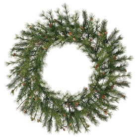 Vickerman 60-in Unlit Pine Artificial Christmas Wreath A801860