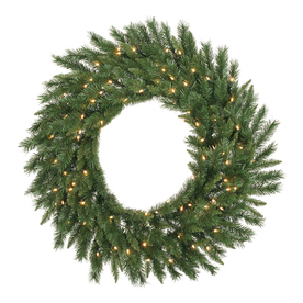 Vickerman 48-in Pre-Lit Imperial Pine Artificial Christmas Wreath with White LED Lights A877349LED