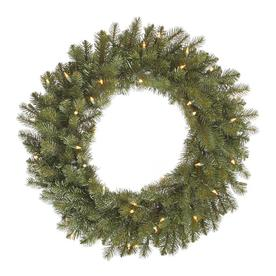Vickerman 30-in Pre-Lit Colorado Spruce Artificial Christmas Wreath with White LED Lights D123631LED