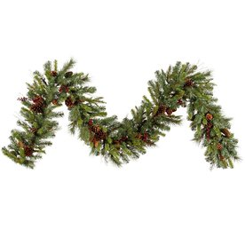 Vickerman 14-in x 9-ft Berry Artificial Christmas Garland G118714