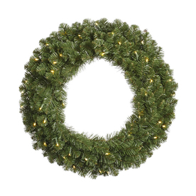 Vickerman 60-in Pre-Lit Grand Teton Artificial Christmas Wreath with White Incandescent Lights G125661