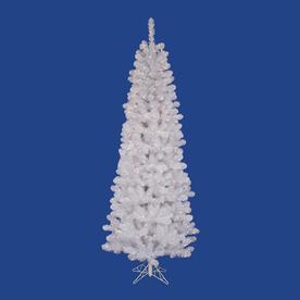 Vickerman 8.5-Ft Pre-Lit Slim Artificial Christmas Tree W...