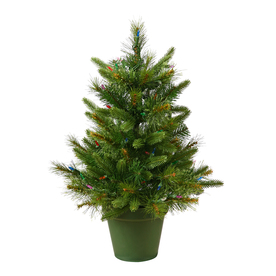 Vickerman 2-ft Pre-Lit Artificial Christmas Tree with Clear White Incandescent Lights A118225