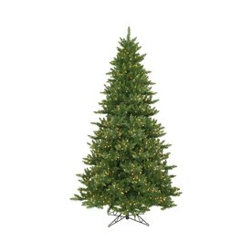 Vickerman 12-ft Pre-Lit Camdon Fir Artificial Christmas Tree with White Incandescent Lights A860991