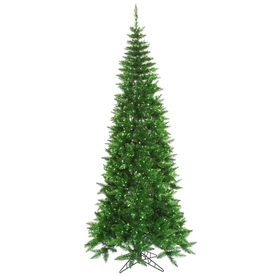 Vickerman 4.5-ft Pre-Lit Tinsel Slim Artificial Christmas Tree Green Incandescent Lights K125646