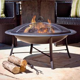 Jeco 30-In W Black Steel Wood-Burning Fire Pit Fp003