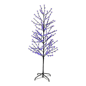 Northlight Lb International 6-ft Pre-Lit Twig Slim Artificial Christmas Tree with Purple LED Lights ATG10989202