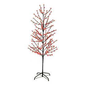 Northlight Lb International 6-ft Pre-Lit Twig Slim Artificial Christmas Tree with Red LED Lights ATG10989203