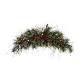 Northlight Allstate 32-in W x 16-ft L Artificial Christmas Garland with Eucalyptus, Berries, and Pine Cones ATG10979433