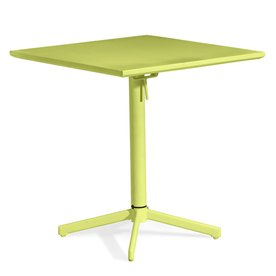 Big Wave Folding Square Table Lime - Zuo Modern 703042