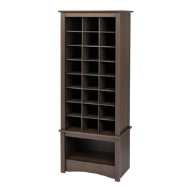 Display Product Reviews For 24 Pair Espresso Wood Shoe Cubbie Cabinet