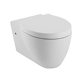 Scarabeo Panorama White Elongated Wall Hung Toilet Bowl G...