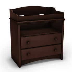 South Shore Furniture 35.5-in W Espresso Surface-Mount Changing Table 3559331