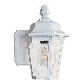 Shop outdoor wall lights at lowes display product reviews for brentwood 1025 in h white outdoor wall light aloadofball Images