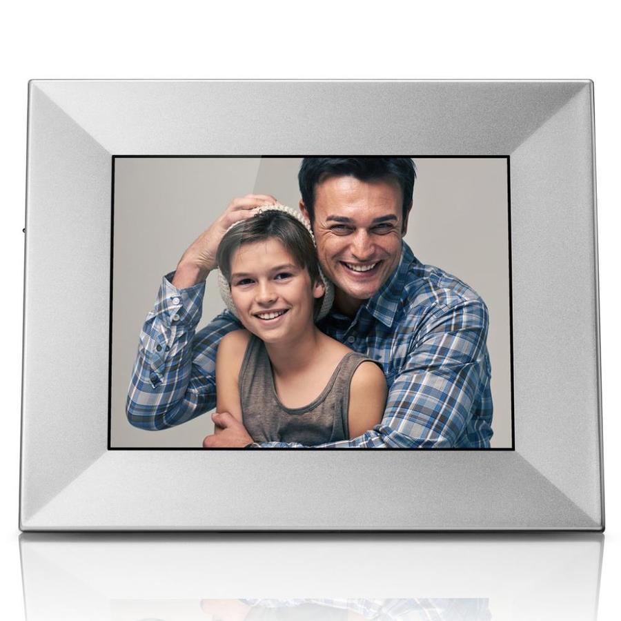 Nixplay Iris 8-in Wireless Digital Picture Frame, Silver   W08E SKU308