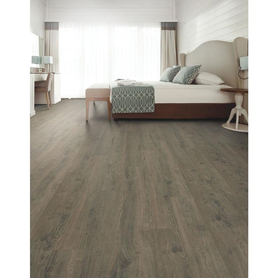 QuickStep Studio + Spill Repel Whistler Oak 8.8-in W x 8.8-in L Embossed  Wood Plank Laminate Flooring