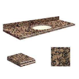 Transolid Baltic Brown Granite Undermount Single Sink Bathroom Vanity Top (Common: 61-in x 22-in; Actual: 61-in x 22-in) G6122-E5-U-B-1