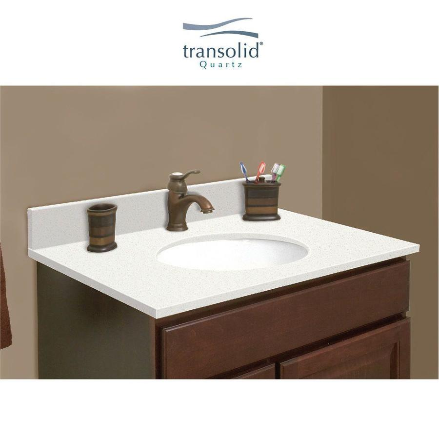 Transolid 27 In Milan White Quartz Single Sink Bathroom Vanity Top In The Bathroom Vanity Tops Department At Lowes Com