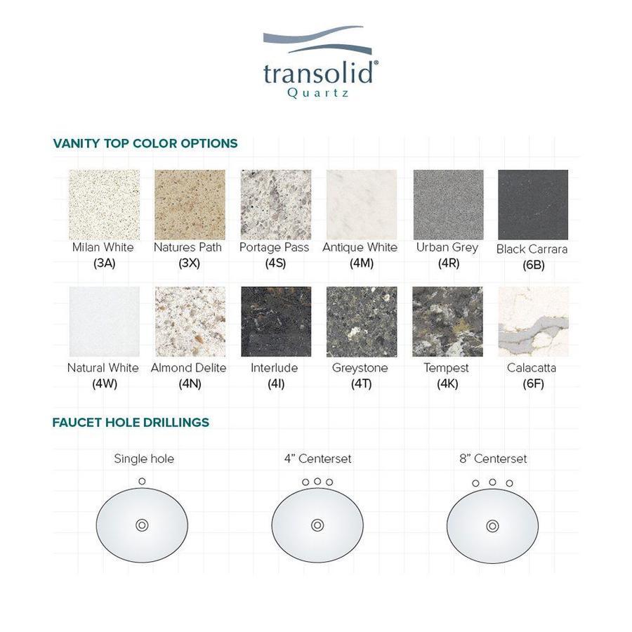 Transolid 34 In Interlude Quartz Single Sink Bathroom Vanity Top In The Bathroom Vanity Tops Department At Lowes Com