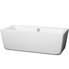 Wyndham Laura 66.5-In White Acrylic Freestanding Bathtub Wi