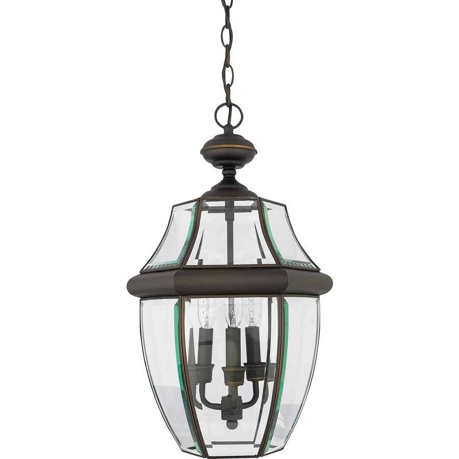Lowes Hanging Light Fixtures: Shop Portfolio Brayden 18.5-in Bronze Outdoor Pendant