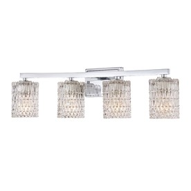Shop allen + roth 4-Light Polished Chrome Bathroom Vanity ...