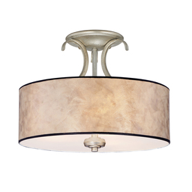 Display product reviews for Jenna 14-in W Gold Etched Glass Semi-Flush Mount  sc 1 st  Loweu0027s & Shop Semi-Flush Mount Lights at Lowes.com