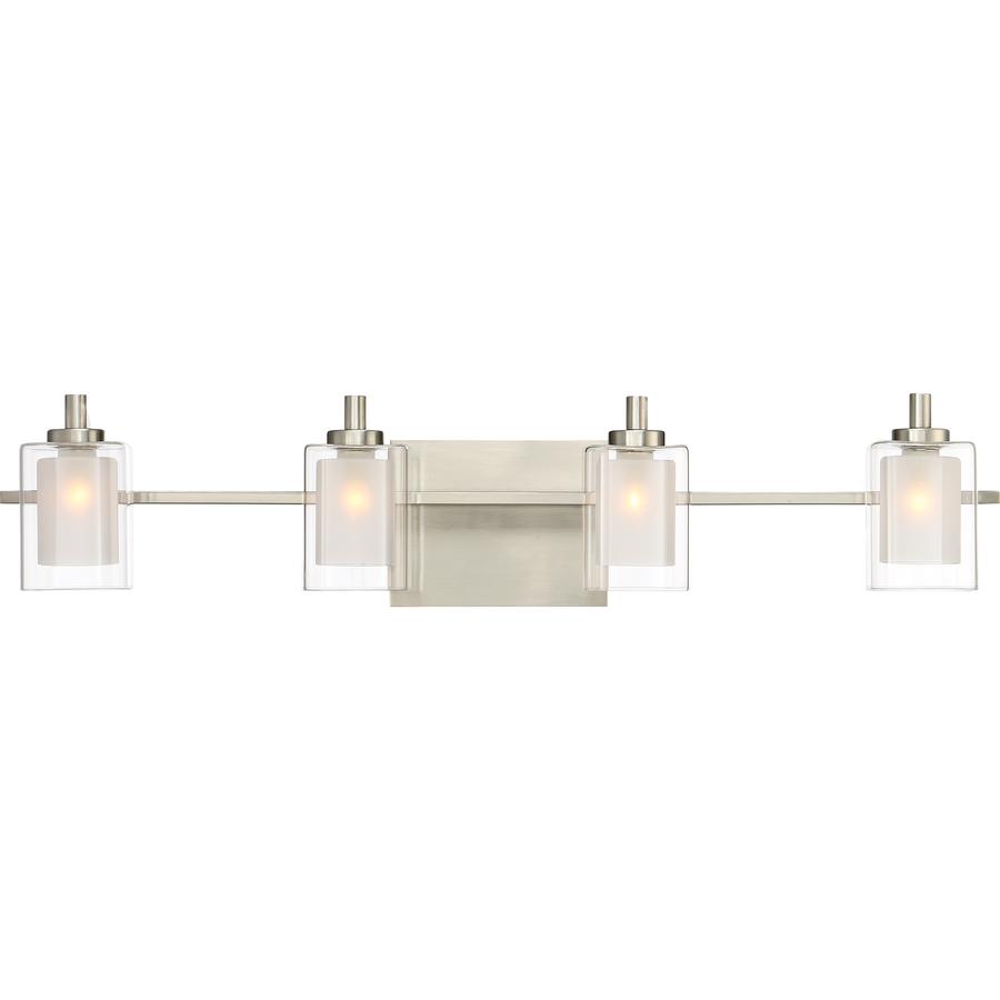 Quoizel Kolt 4-Light Nickel Transitional Vanity Light Klt8604bnled