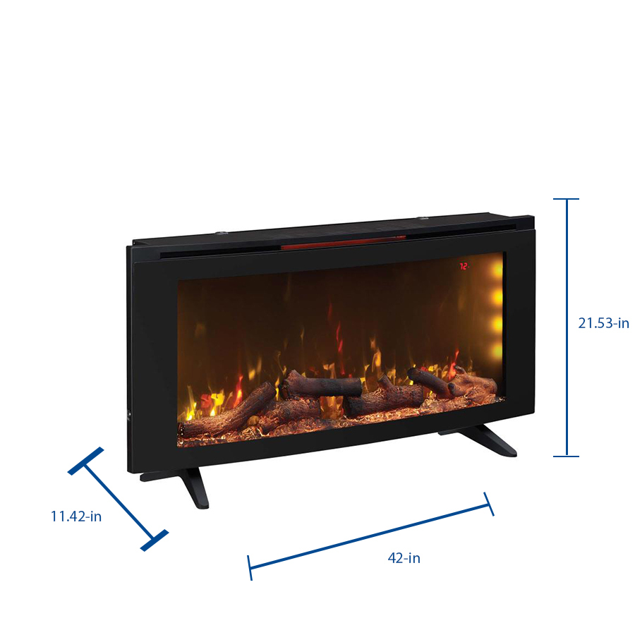 Duraflame 42 In W Black Infrared Quartz Electric Fireplace In The Electric Fireplaces Department At Lowes Com
