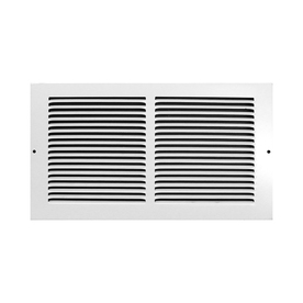 Accord Ventilation 195 Series White Steel Louvered Baseboard Grilles (Rough Opening: 12-In X 6-In; Actual: 13.74-In X 7.