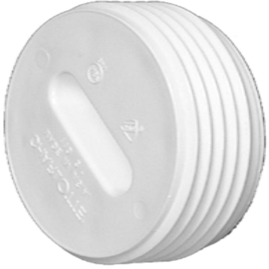 Shop Charlotte Pipe 3 In Dia Pvc Cleanout Plug Fitting At