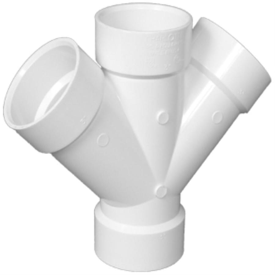 Shop Charlotte Pipe 6 In Dia 90 Degree Pvc Double Wye