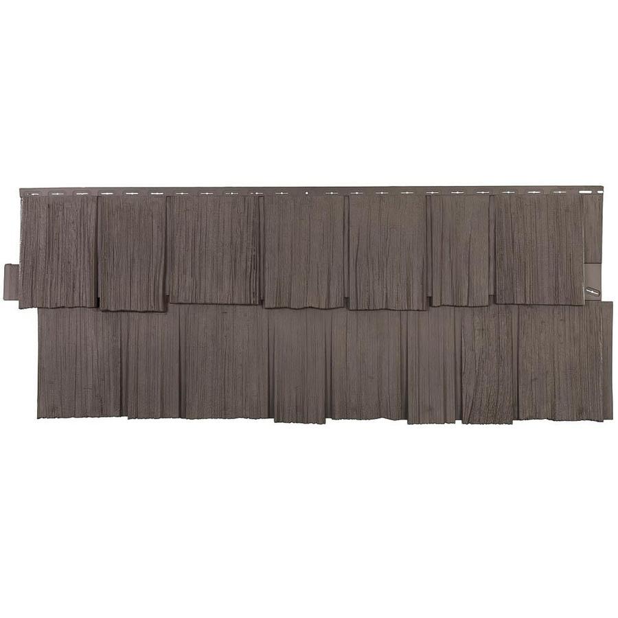 Novik NovikShake HS 9-Pack Vinyl Siding Panel Hand-split Shake Cedar Blend 19.25-in x 49.5-in in Brown | 100070007
