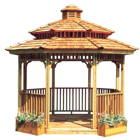 Cedarshed All Season Amp Octagon Gazebo From Lowes Wood