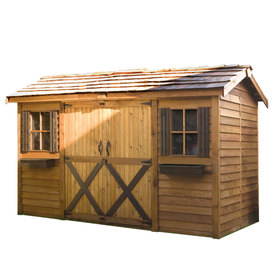 Cedarshed Common: 16-Ft X 8-Ft; Interior Dimensions: 15.5...