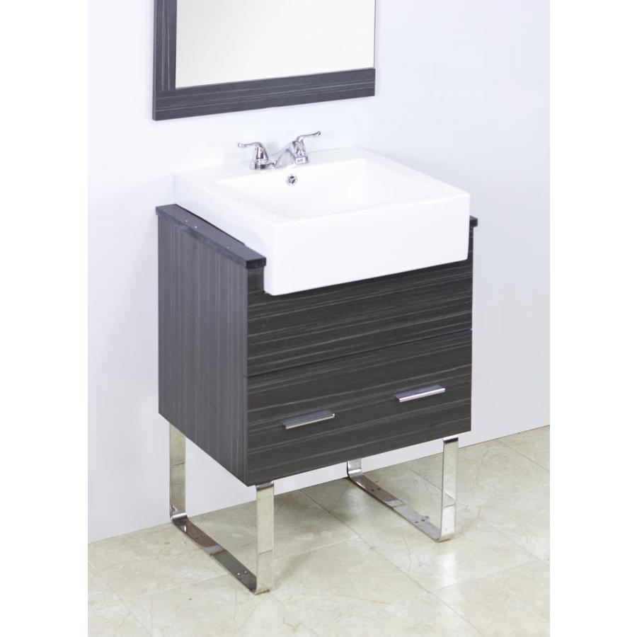 American Imaginations Xena Farmhouse 36 In Dawn Grey Single Sink Bathroom Vanity With Black Galaxy Engineered Stone Top In The Bathroom Vanities With Tops Department At Lowes Com