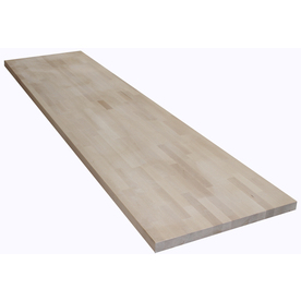 Shop The Baltic Butcher Block 8-ft Natural Straight Wood Birch Kitchen Countertop at Lowes.com