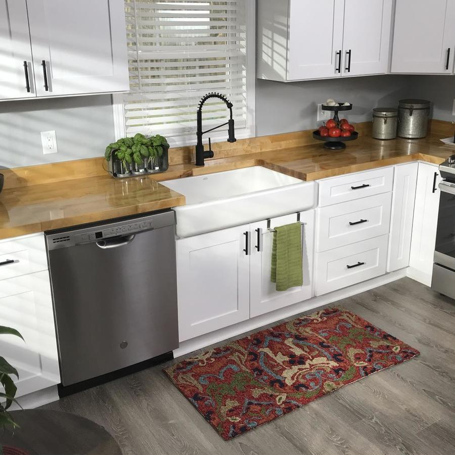 The Baltic Butcher Block 8 Ft Unfinished Natural Straight Butcher Block Birch Kitchen Countertop In The Kitchen Countertops Department At Lowes Com