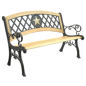 Lowes Garden Treasures Salem Amp Texas Star Wood Bench With