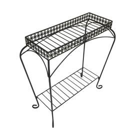 4d44ab091852 Display product reviews for Bursa 28-in Black Indoor/Outdoor Rectangular Steel  Plant Stand