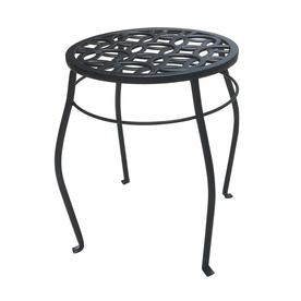 Display Product Reviews For 15 In Black Indoor Outdoor Round Steel Plant Stand