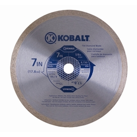Kobalt 7-In Wet/Dry Continuous Diamond Saw Blade Tl7d