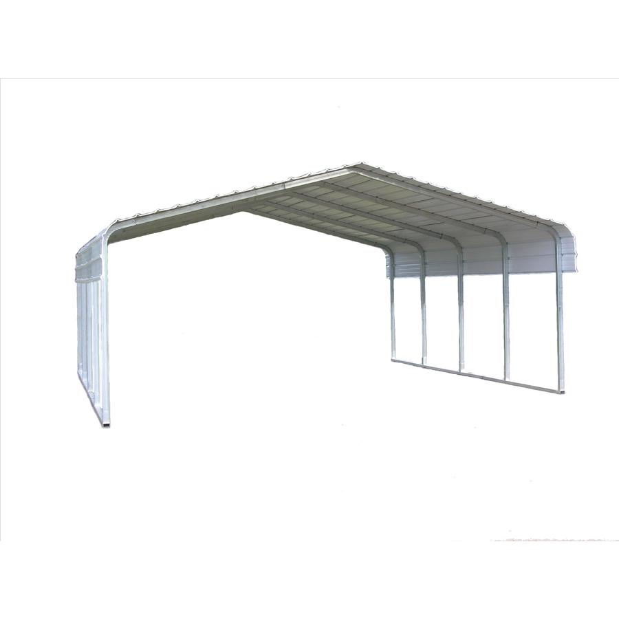 Shop Versatube 18 X 20 X 10 Metal 2 Car Carport At Lowes Com